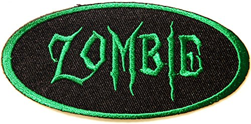 Quiz Costume Halloween (ZOMBIE Halloween Party Jacket T-shirt Patch Sew Iron on Embroidered Sign)