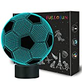 little boy room ideas FULLOSUN Kids Night Light Football 3D Optical Illusion Lamp with 7 Colors Changing Soccer Birthday Xmas Idea for Sport Fan Boys Girls