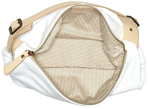 LiliMill Lucy - Bolso tipo baguette Mujer Weiß (Weiß (LATTE))