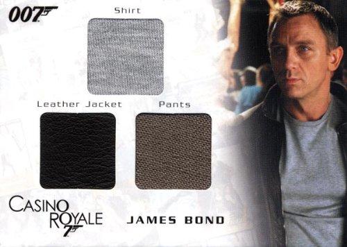 Costume James Bond Casino Royale (James Bond in Motion - James Bond's Shirt, Leather Jacket & Pants Costume Card TC06)
