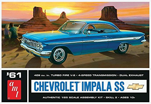 AMT 1013 1961 Chevy Impala SS 1/25 Plastic Model Car Kit