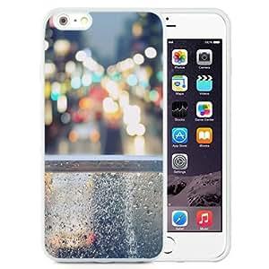 Fashionable Custom Designed iPhone 6 Plus 5.5 Inch Phone Case With Rainy Street Window Bokeh_White Phone Case