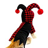 Youbedo Dog Hooded Clown Costume, Halloween Pet Dog Clown Hooded Cosplay Costumes Pet Supplies for Small Dogs and Cats