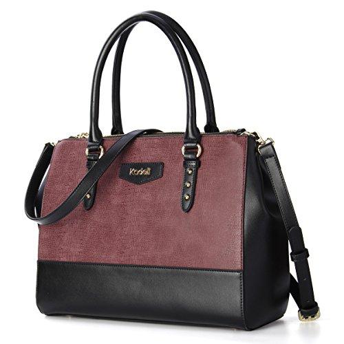 Kadell Borsa a tracolla di borsa in pelle a tracolla in crocodile Crossbody Una marca di lusso vino rosso Vino Rosso
