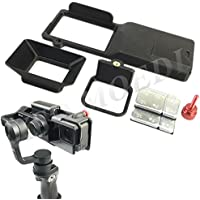 XSD MOEDL GoPro hero 5 Adapter switch mount plate + Camera Sun Shade for DJI osmo mobile gimbal handheld parts