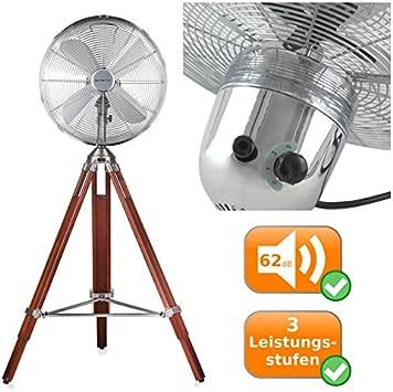 Stand Ventilator Klima Raum Kühler Höhen-Verstellbar Büro Wind-Maschine Holz AEG