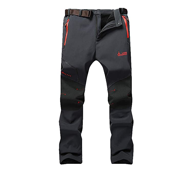 Montaña Impermeable Hombre Wanpul Pantalon Softshell De Pantalones mwynvPN80O