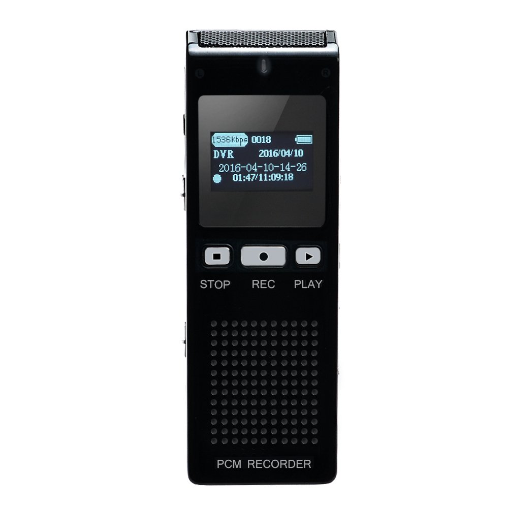 AGPTEK RP11 8GB & 70 Hours Portable Multifunctional Digital Metal Voice Recorder & Music Player for Recording, Interview, Meeting and Conversation, Up to 32GB, Black