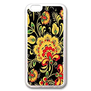 Custom Iphone 6 Plus Case,Transparent flowers TPU Transparent Iphone 6 Plus Cases