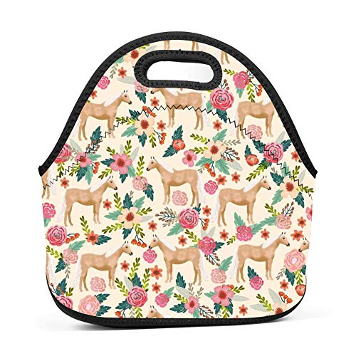 - Insulated Lunch Box Palomino Horse Farm Animal Horse Lunch Bags Insulated for Women Men Adult Girls Neoprene Cute Tote Waterproof Thermal Reusable Durable Boxes for Work Office Picnic Travel Mom