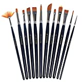 Pengxiaomei Paint Brushes, 12 Pieces Artist Paint Brushes Set Art Painting Brushes for Acrylic and Oil Painting