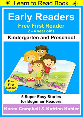 Early Readers First Learn To Read Book Kindergarten And Preschool 5 Super Easy Stories For Beginner Readers