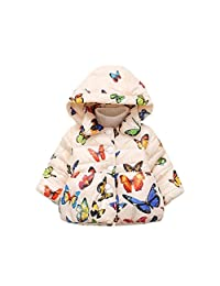 Newest Infant Autumn Winter Hooded Butterfly Coat Cloak Jacket Thick Warm Clothes