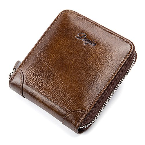 simple DANJUE wallet first Brown wild men's casual D6029 layer fashion wallet cowhide TITgq
