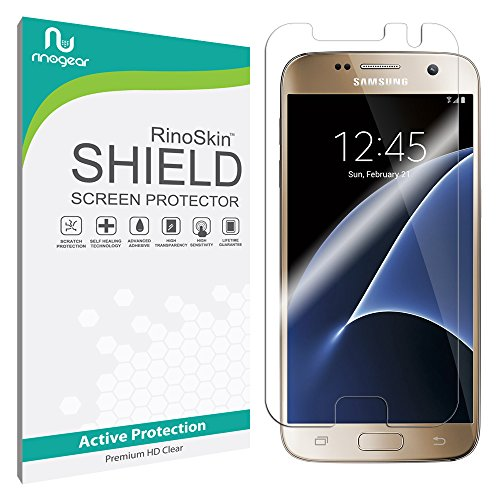 Galaxy S7 Screen Protector [Military-Grade] RinoGear Premium HD Invisible Clear Shield w/ Lifetime Replacements
