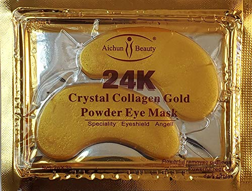 100 Crystal 24K Gold Powder Gel Collagen Eyes Masks Sheet Patch Anti Ageing Remove Bags Dark Circles & Puffiness Skin…