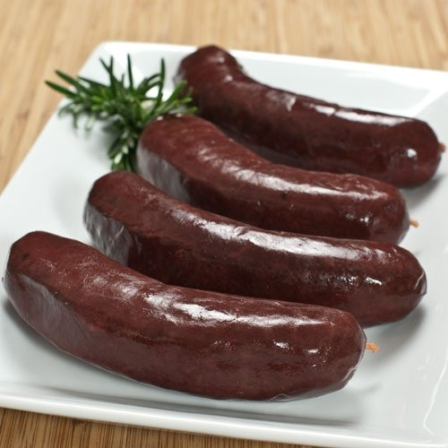 All Natural Boudin Noir Sausages 4 Links 1 lb by Fabrique Delices