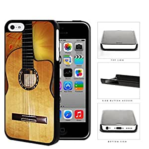 Acoustic Guitar With Music Notes Hard Plastic Snap On Cell Phone Case Apple iPhone 5c