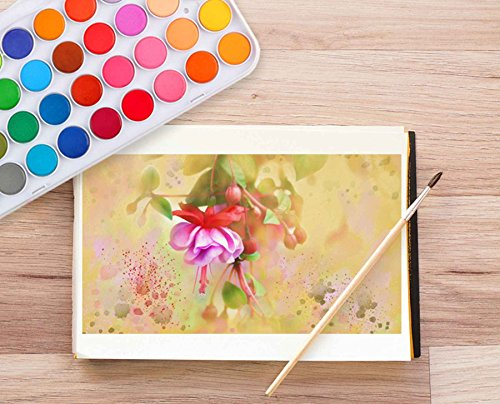 36 Watercolor Pan Set, Smart Color Art Watercolor Paint Set with 4 Brushes,Easy to Blend Colors, Perfect for Kids Adults by Smart Color Art (Image #5)