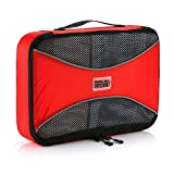 Pro Packing Cubes | MEDIUM Travel Packing Cube |Ultra Lightweight Luggage Organizer for Travel | Featuring Durable Rip-Stop Nylon and Reliable YKK Zippers (Red)