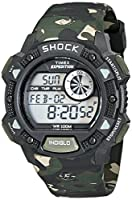 Timex Men's T49976 Expedition Base Shock Black/Camo Resin Watch