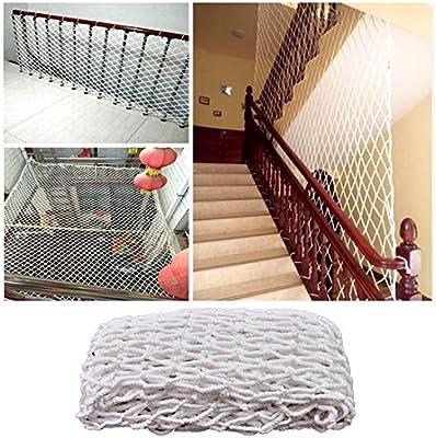 Red Protección Balcón Escalera Niños Malla De Protección Balcón Gatos Redes De Seguridad, Cuerda Escalera Trailer Netting Blanco Red De Nylon Barandilla Proteccion Cerca Patio De Recreo Malla De Decor: Amazon.es: Deportes