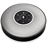 Bluetooth Speakerphone - eMeet M2 Wireless Conference Speakerphone for 5-8 People Business Conferencing Call 360º Voice Audio Pickup AI Self-Adaptive Speakerphone Skype, Webinar, Phone, Call Center