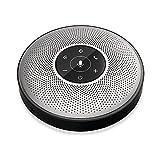 Bluetooth Speakerphone - eMeet M2 Wireless Conference Speakerphone for 5-8 People Business Conferencing Call 360º Voice Audio Pickup AI Self-Adaptive Speakerphone Skype, Webinar, Phone, Call Center