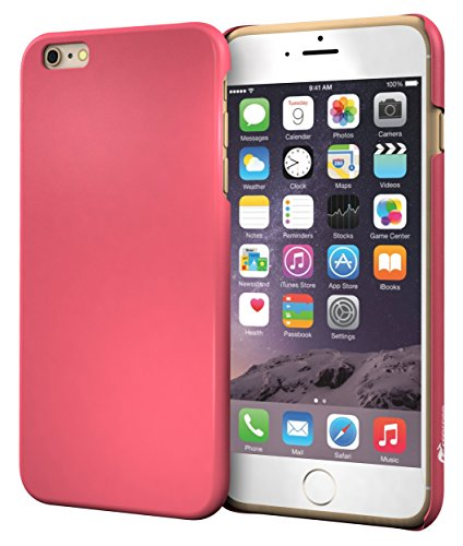 iPhone 6s Plus Case, Apple iPhone 6s Plus, roocase Ultra Skinny Slim Fit Thin Lightweight Shell Case [Skinny Slim] Protective Pefect Fit Non Slip Cover for Apple iPhone 6 Plus, Soft Matte Magenta