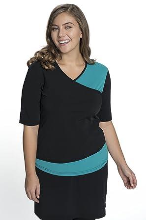 c5f0c94625 HydroChic Women s Modest Short Sleeve Swim Shirt – Sun Protection Rash  Guard UPF 50 - Black