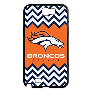 NFL Denver Broncos Samsung Galaxy Note 2 N7100 Plastic Case Cover Custom Personalized Cool Chevron Team Logo Cover at Big-dream by ruishername