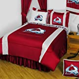 NHL Colorado Avalanche King Comforter Set Hockey Logo Bed