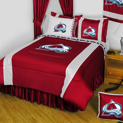 NHL Colorado Avalanche 5 Pc Full Bedding Set Comforter and Sheets Avalanche Comforter
