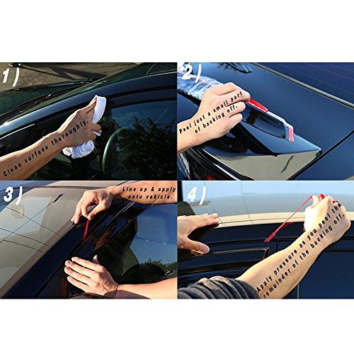 2002 2003 2004 Window Visors Compatible With 2001-2005 Honda Civic Acrylic Smoke Tinted//Semi-transparent Sun Rain Guard Wind Vent Air Deflector Shade by IKON MOTORSPORTS