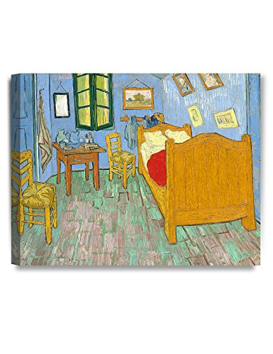 Arles Vincent Van - DecorArts - Bedroom in Arles (Third version), by Vincent Van Gogh- The Van Gogh Classic Arts Reproduction, Art Giclee Print On Canvas, Stretched Canvas Gallery Wrapped. 20x16