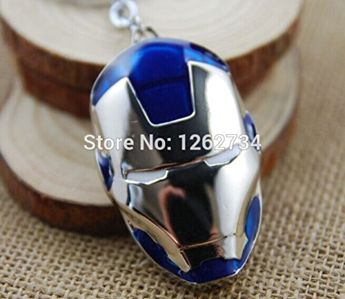 [(Blue) Iron Man Mask Metal Action Figure Keychain Keyring Doll] (Incredible Hulk Costume Ideas)