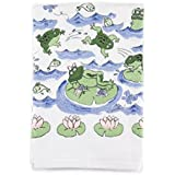 Froggy Day Printed Design Bathroom Hand Towel, Set of 2