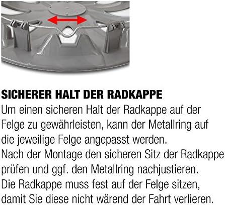 Radzierblenden 4 St/ück 14 Zoll RKK07 Shadow Line Schwarz//Silber Radkappen