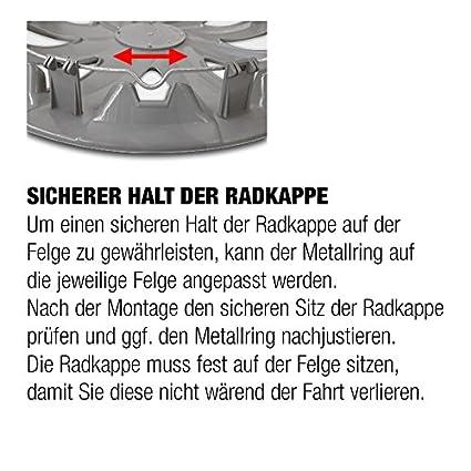 Radkappen//Radzierblenden 4 St/ück Schwarz-Silber 15 Zoll RKK06 Multi-Color Line
