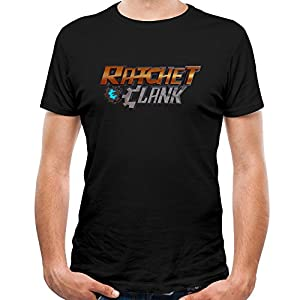 Loly Brand Men's Ratchet & Clank Adventure Cora Victor Von Funny Short-Sleeve T-shirt L