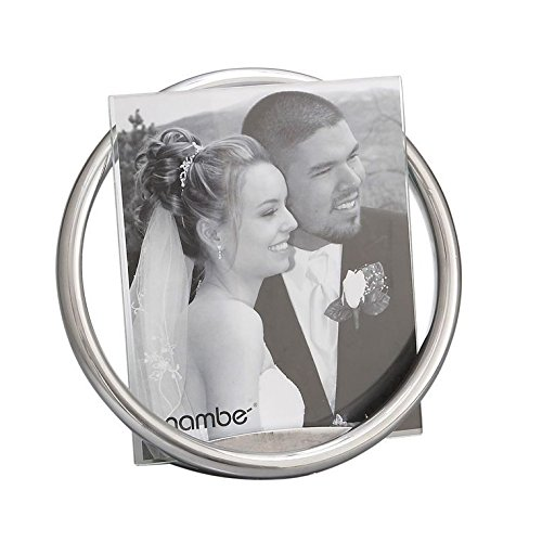 Nambe Elegant Alloy Chrome Wedding Photo Picture Silver Modern Tabletop Frame