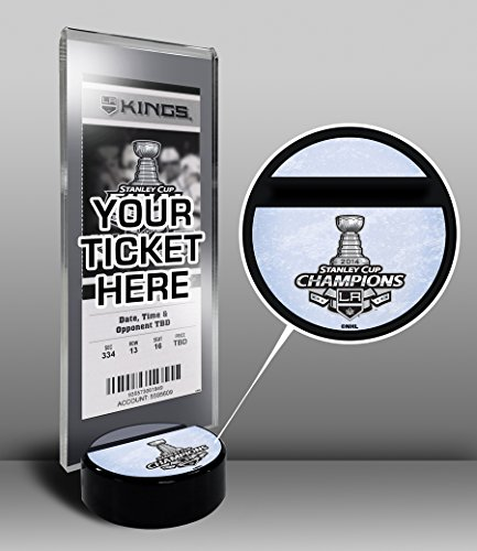 2014 NHL Stanley Cup Champions Hockey Puck Ticket Display Stand - Los Angeles Kings