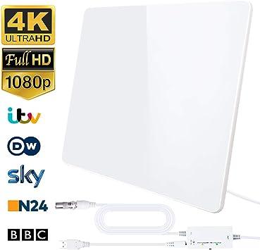 plusieurs couleurs modèles à la mode bons plans 2017 [2019 Version Améliorée] HD Antenne TV, Antenne Intérieure 200KM- Gamme  Amplificateur Intellectuel Signal, Convient aux 1080P 4K Chaînes Télévision  ...