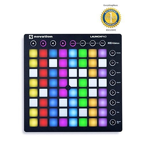(Novation Launchpad MK2 Ableton Live Controller with 1 Year Free Extended Warranty)
