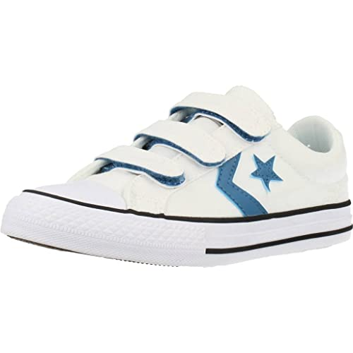 Converse Lifestyle Star Player Ev 3V Ox, Zapatillas Unisex Niño, Blanco (White/White/White 100), 35 EU