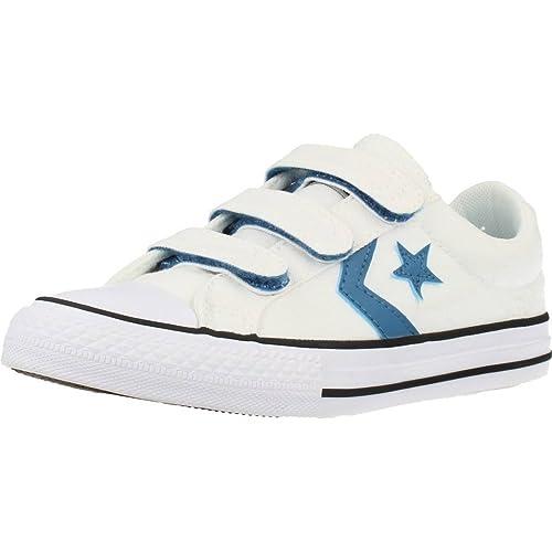 CONVERSE Star Player-Ox Zapatillas Moda Chicos Blanco/Azul/Negro Zapatillas Bajas: Amazon.es: Zapatos y complementos