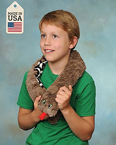 (Weighted Washable Snuggle Snake (Brown Plush))
