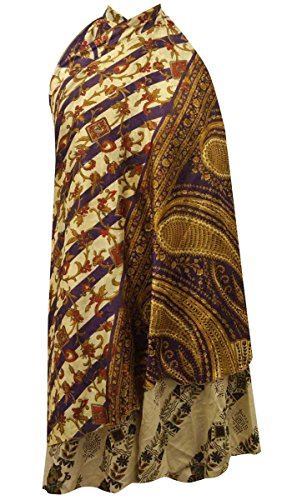Polyester Indianbeautifulart Sarong Wrap Magique Tube Jupe Plus 35 Vintage Long Taille Robe Jaune xwrpvw