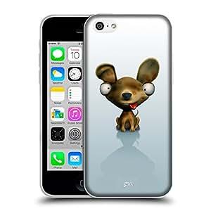 Super Galaxy Coque de Protection TPU Silicone Case pour // V00000485 Animales divertidos 3D - perro // Apple iPhone 5C