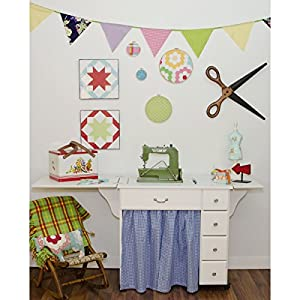 Arrow Sewing Cabinets 901 Auntie Em, Vintage Sewing Cabinent, White